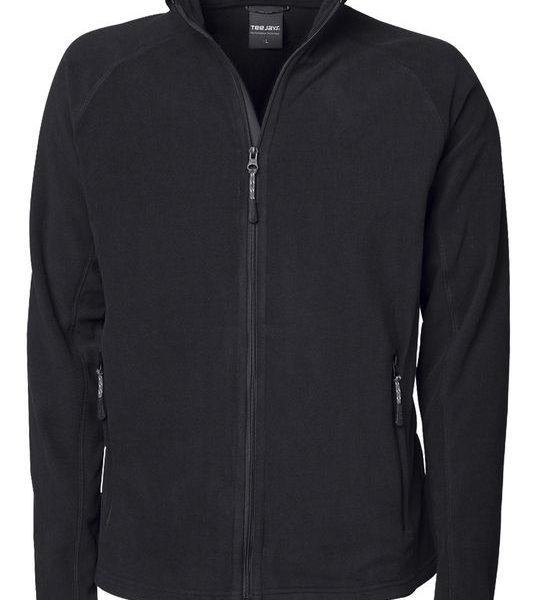 Black Active Fleece Painatuksella