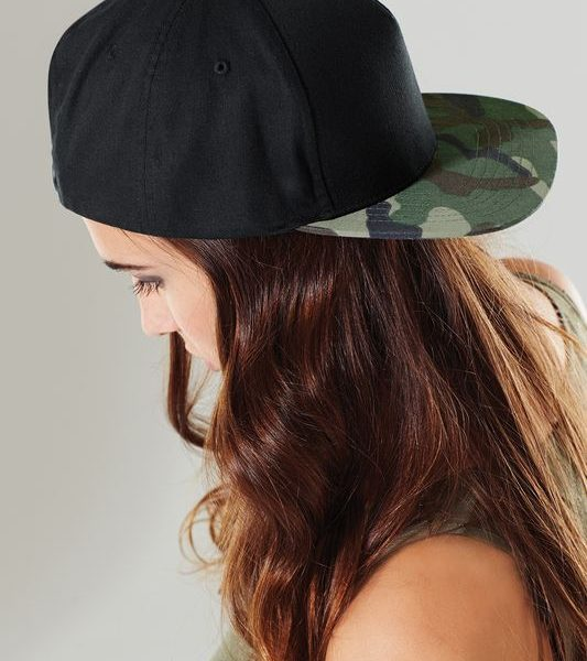 Black - Jungle Camo Camo Snapback Lippis Painatuksella