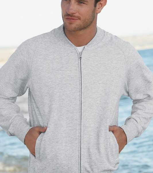 Heather Grey Lightweight Collegetakki Painatuksella