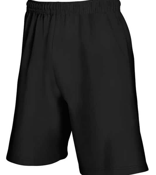 Black Lightweight Shortsit Painatuksella