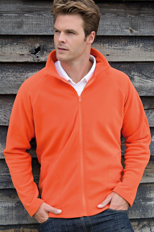Orange Micron Fleece Painatuksella
