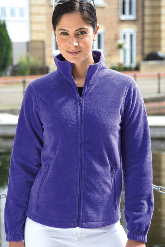 Purple Naisten Core Fleece Painatuksella