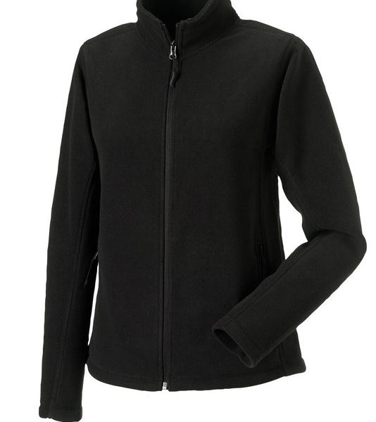 Black Naisten Outdoor Fleece Painatuksella