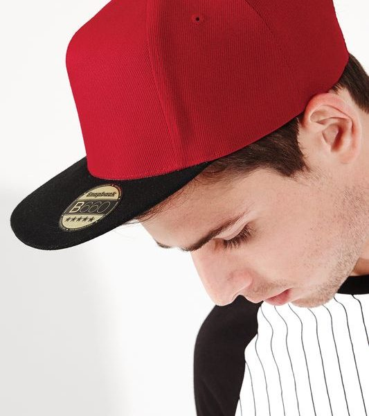Classic red - Black Original Flat Peak Snapback Lippis Painatuksella