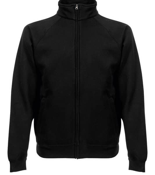 Black Premium College Full Zip Painatuksella