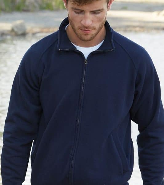 Deep Navy Premium College Full Zip Painatuksella