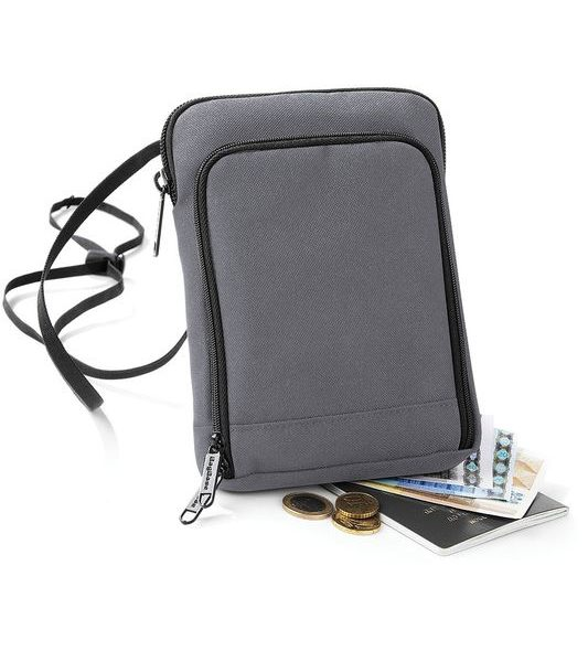 Graphite Grey Travel Wallet Painatuksella