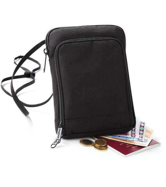 Black Travel Wallet Painatuksella